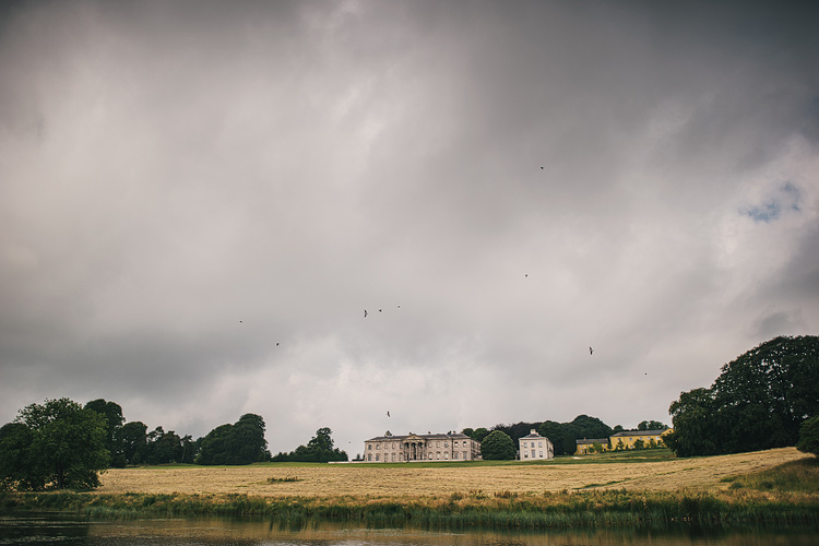 lake view of Ballyfin Demesne Wedding