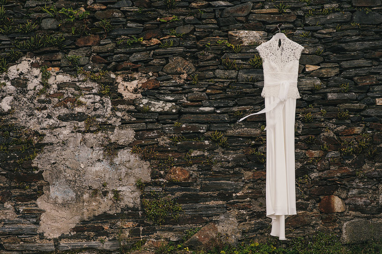 irish stone wall wedding dress