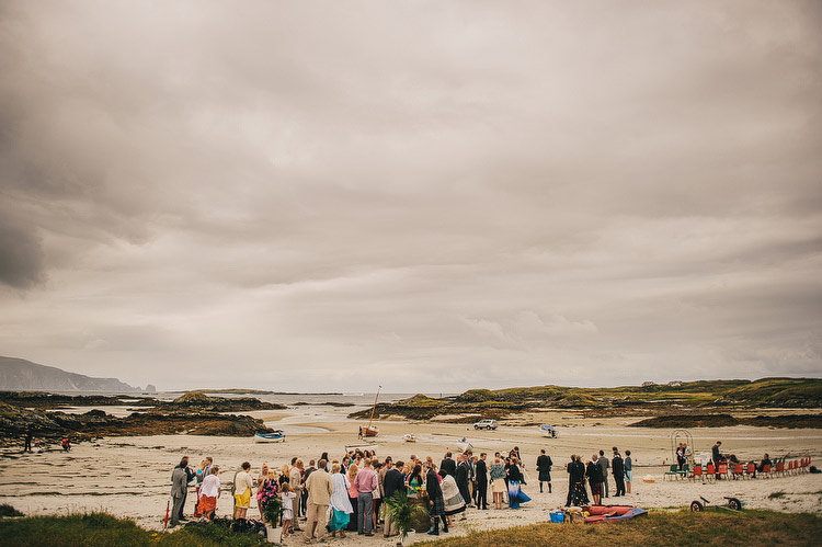 Beach Wedding ceremony in Donegal Ireland