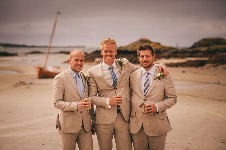 groom groomsmen beach wedding