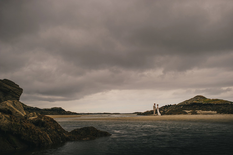 Beach Wedding photographer storm clouds