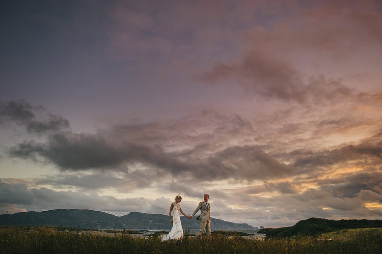 Donegal beach wedding photography