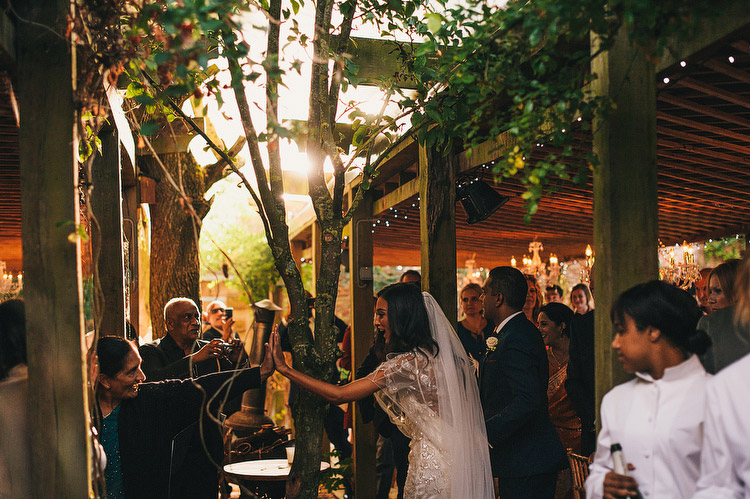 alfresco wedding meal pergola