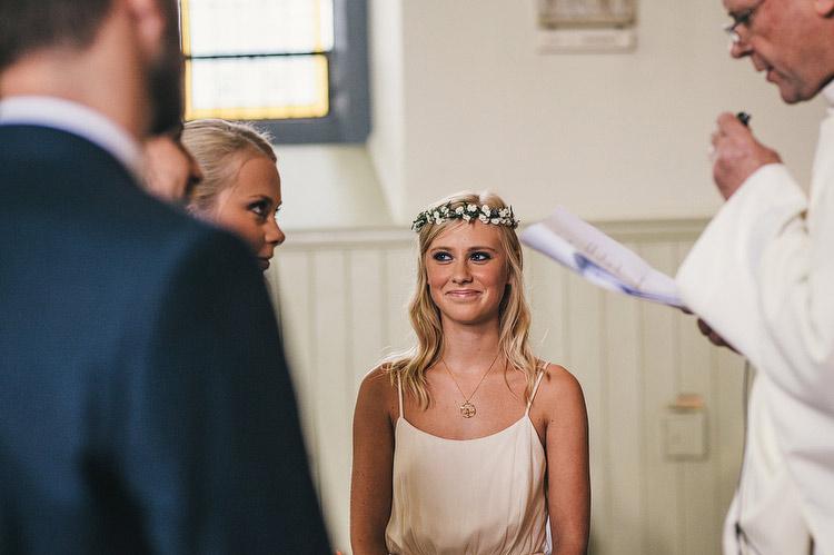 bridesmaid floral head wreath