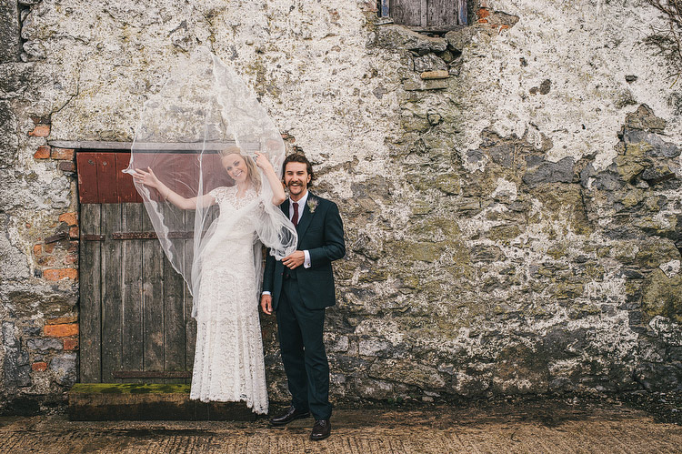 veil wedding portraits