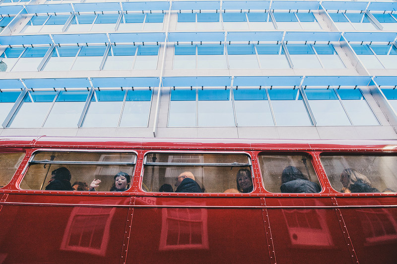 routemaster bus wedding london