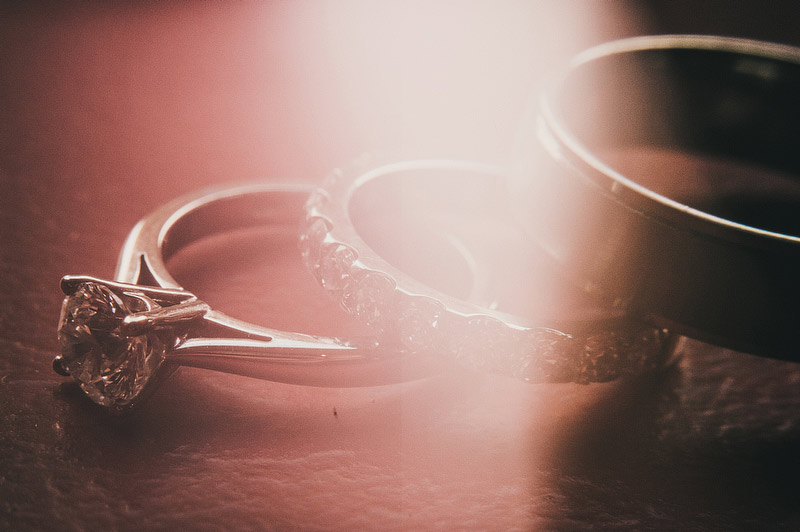 creative ring shot wedding