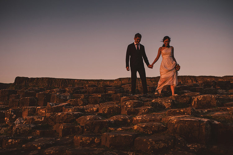 giants causeway wedding portraits