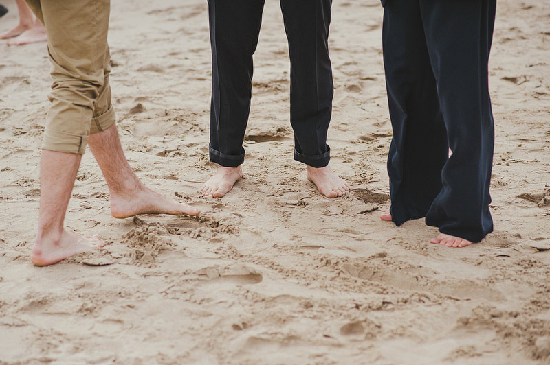 bare feet wedding