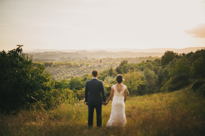 tuscany sunset wedding