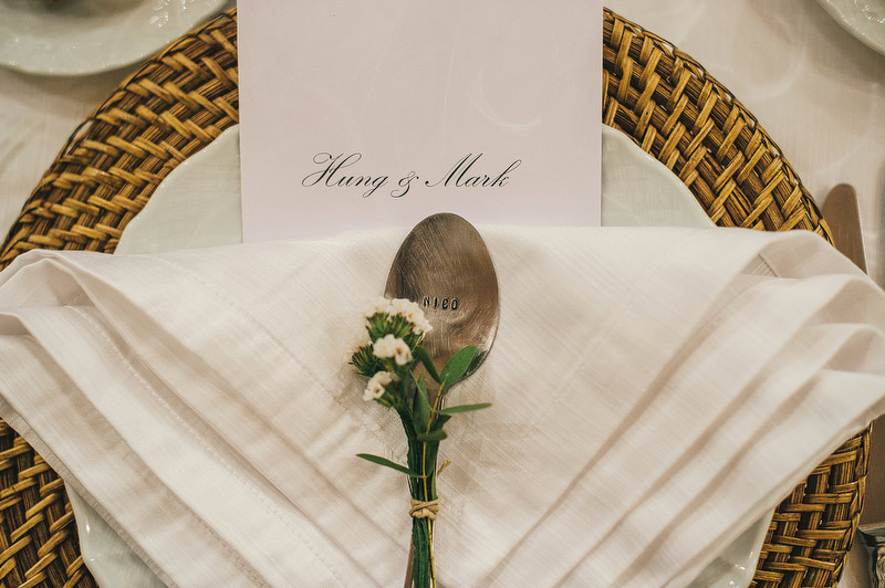 letter punch spoon wedding