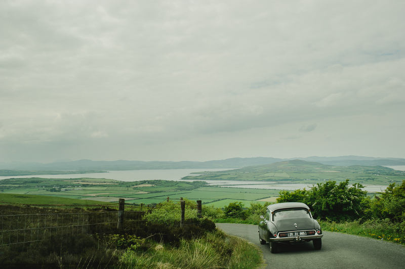 vintage citroen wedding ireland