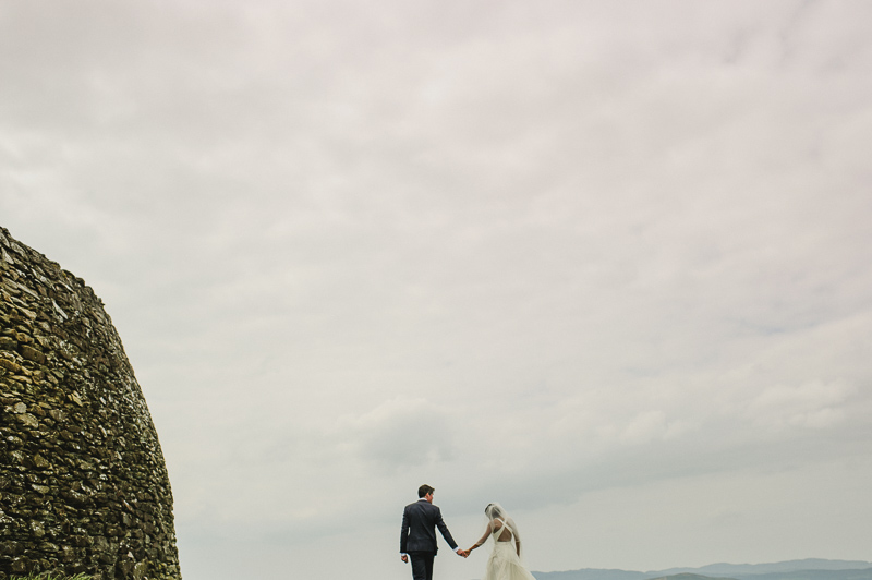 Grianán of Aileach portraits wedding