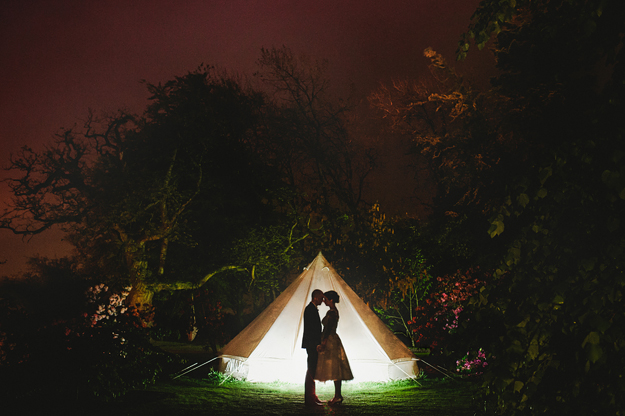 If couples like kind of 'wow' images, especially ones with interesting lighting, perhaps at night, you have to give your photographer room to experiment. Dave & Dee here are wedding photographers themselves and didn't bat an eyelid when i asked them to stand in the pitch black night, running around with tripods and lights, trying to make the image work. It took about 5 minutes to get the shot.