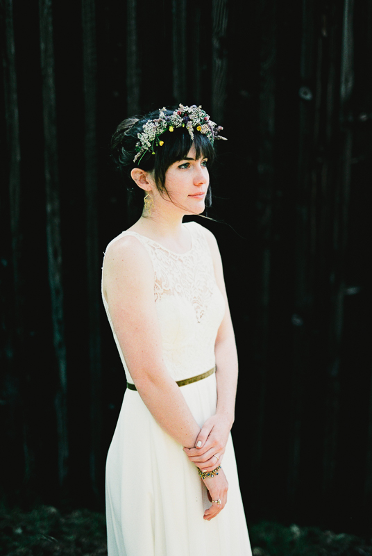 film bride portrait portra