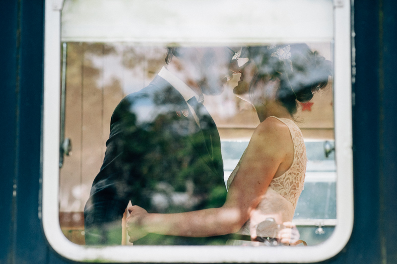 train carriage wedding