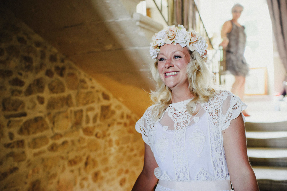 flower garland bride french