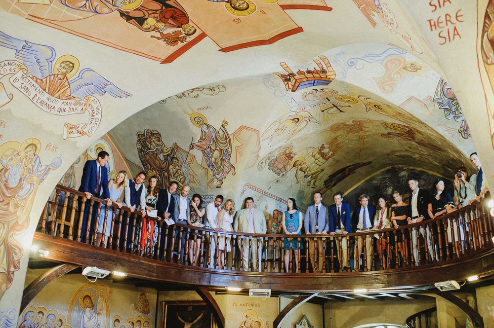 church wedding mural fresco