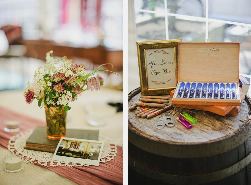 cigar barrel wedding