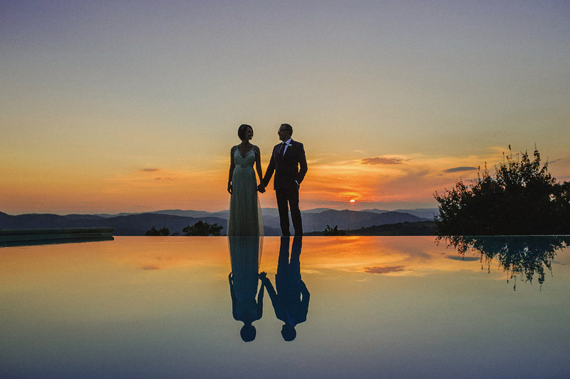 tuscany wedding sunset