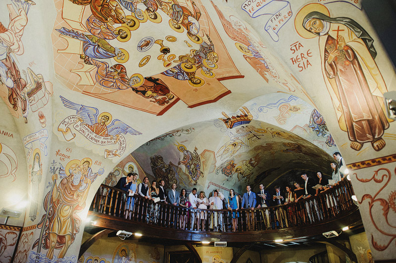 fresco chapel wedding