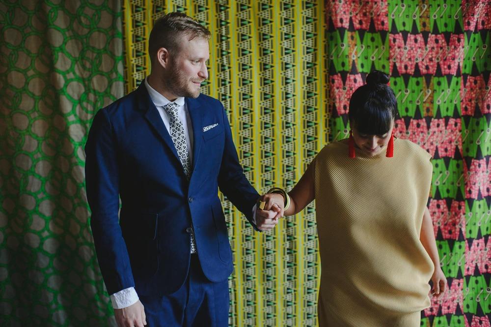 bold pattern colour clash wedding