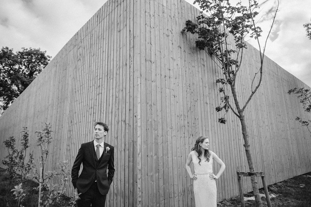alternative wedding photos Ballymagarvey Village Ireland