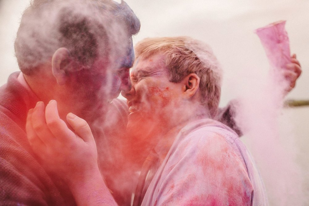 paint powder bomb wedding ireland
