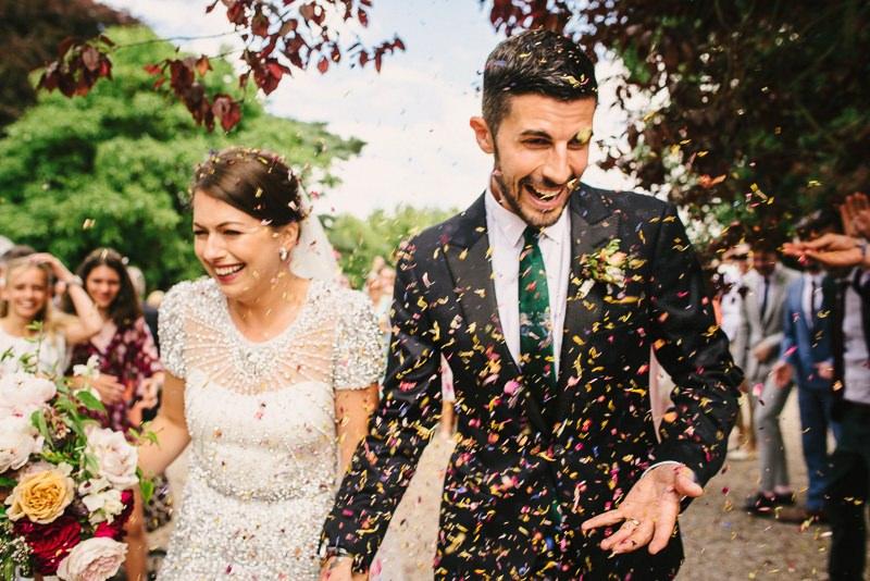wedding confetti shot