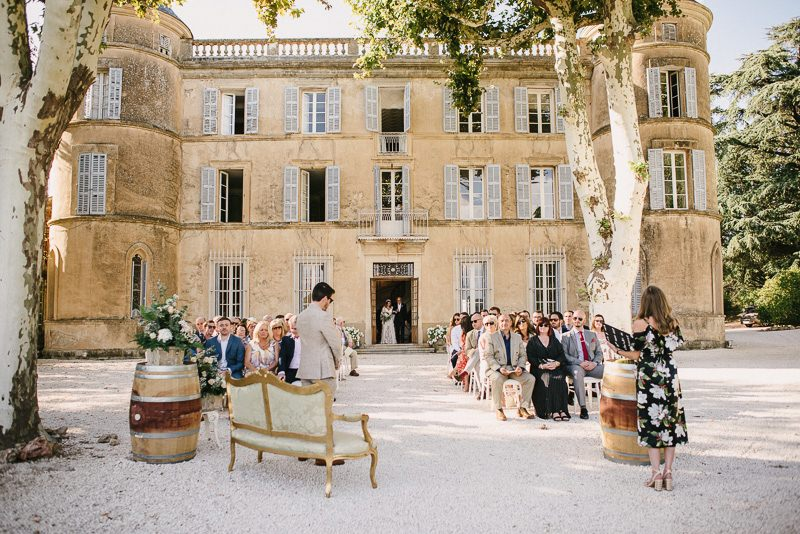 chateau de robernier wedding ceremony France