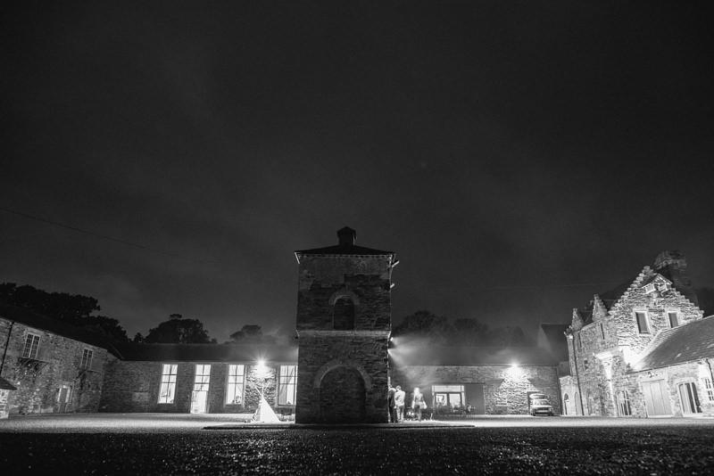 Wedding at Clandeboye Courtyard at Night