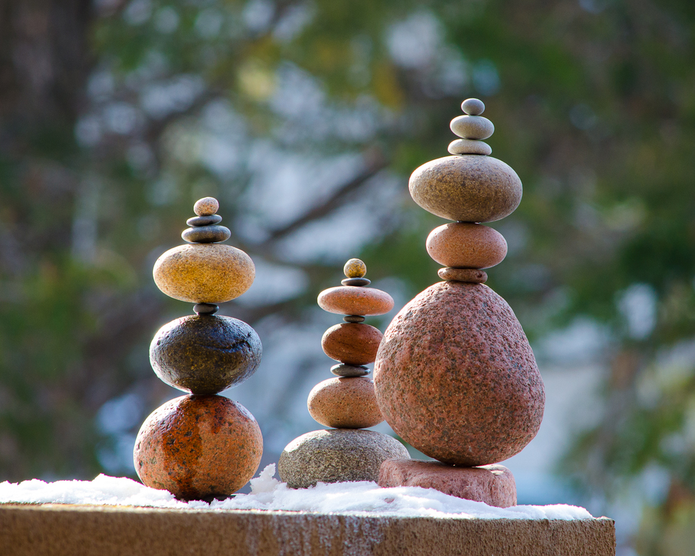 Image of stacked and balanced stones.