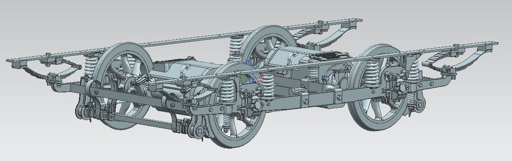 1902 Brush Type A truck CAD model with GE 247 motors