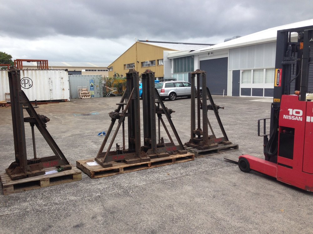 Tram Jacks arrive at the workshop