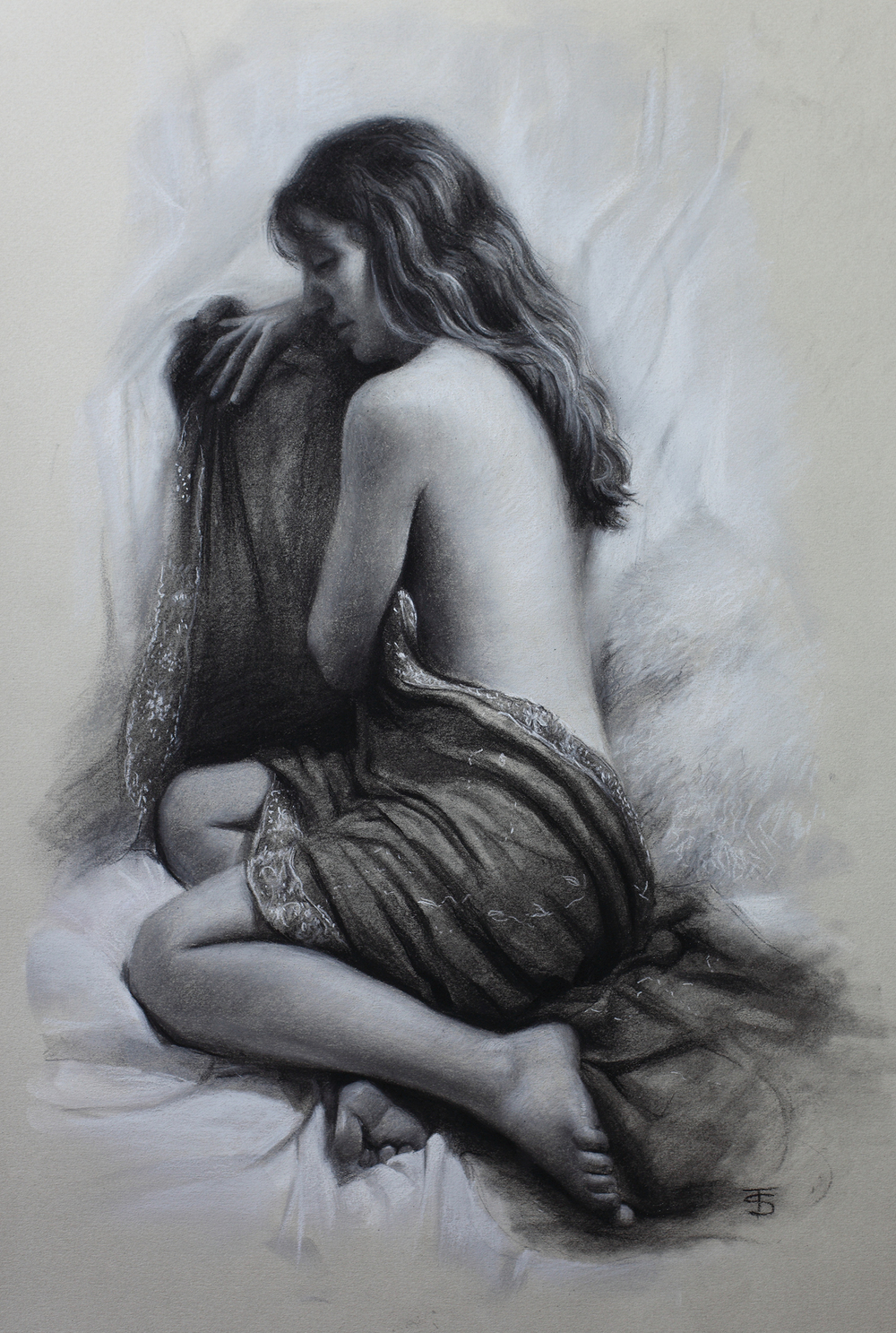Nicola  Charcoal and pastel on paper, private collection