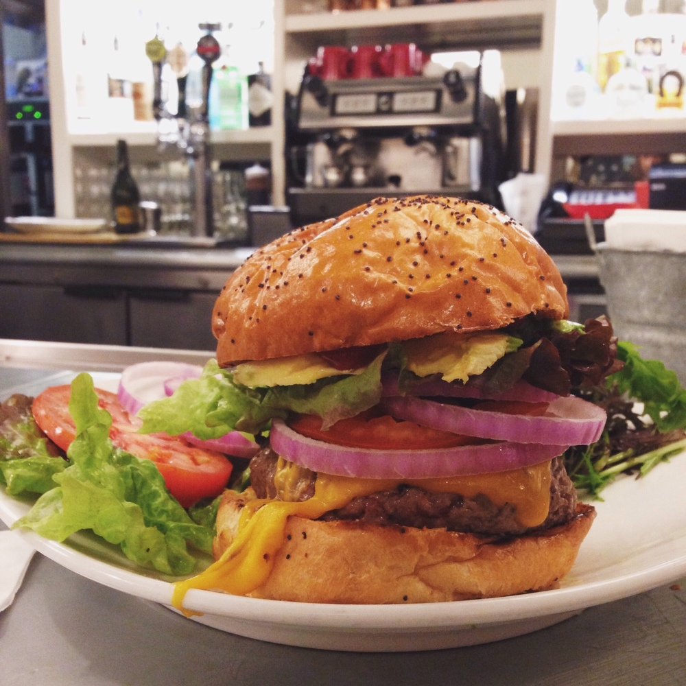 The burgers at Boon Fly Cafe were a wonderful treat after nights of tasting menus.