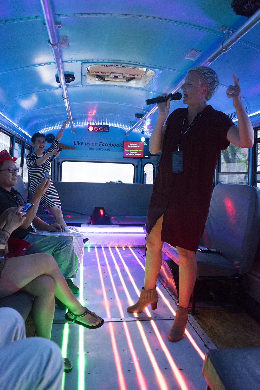 little green pickle party bus