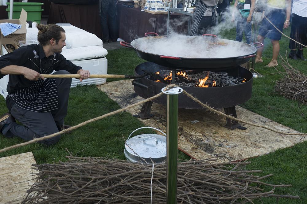 smoked pdx paella