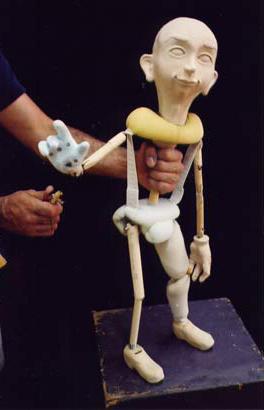 Patrick Martel: marionnette en cours de fabrication
