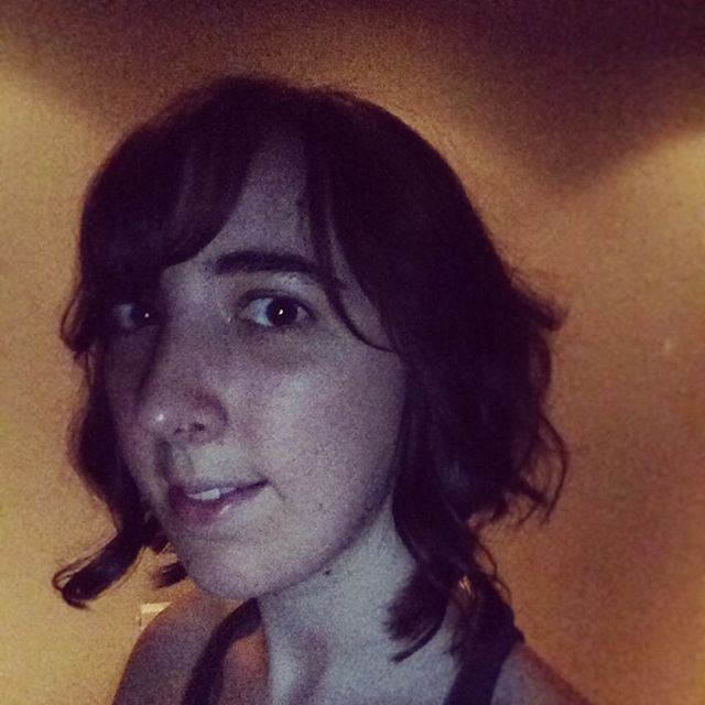 Sorry for the grainy picture - I don't normally do selfies, but I got my hair cut into a reverse bob today and I really like it! I wanted to snap a picture before I sleep.