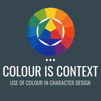 Colour Is Context - Creating a colour palette for your character is most difficult when you are focusing only on that one isolated image. To create a palette that brings together the cast and story harmoniously, you've got to think about the context in which the colours will be perceived.