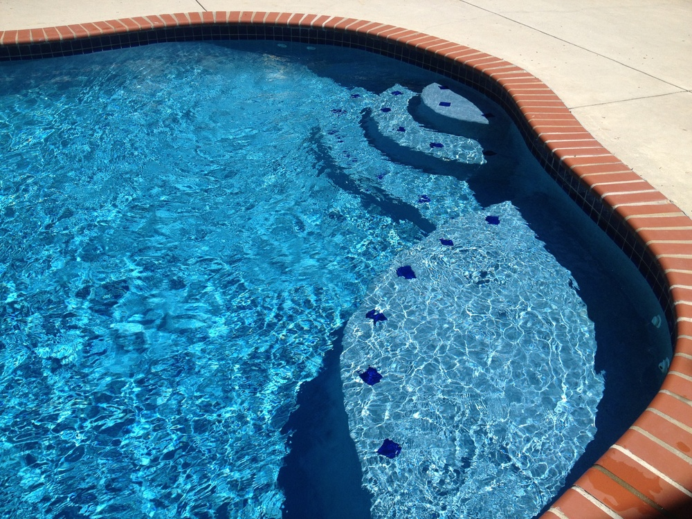 This is what clear pool water should look like. Nothing foggy, hazy, green or slimy here.