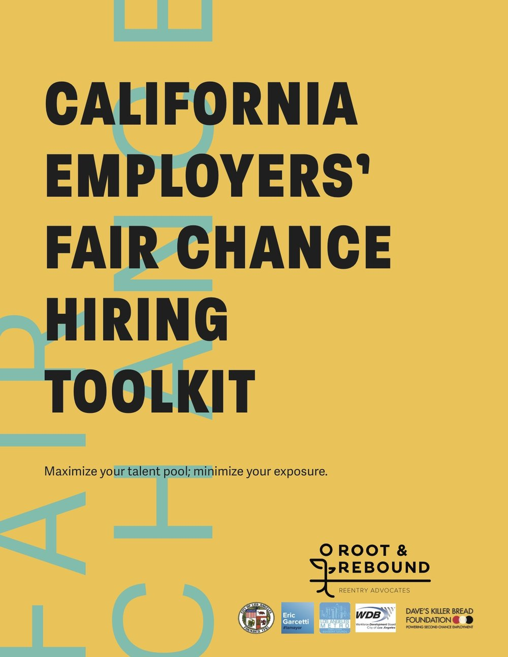Fair Chance Hiring Toolkit 2016 Cover