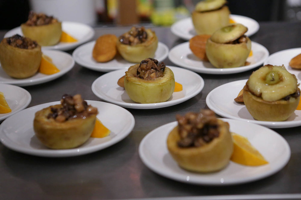 Stuffed apple with nuts and spices at Edible History dinner party.jpg