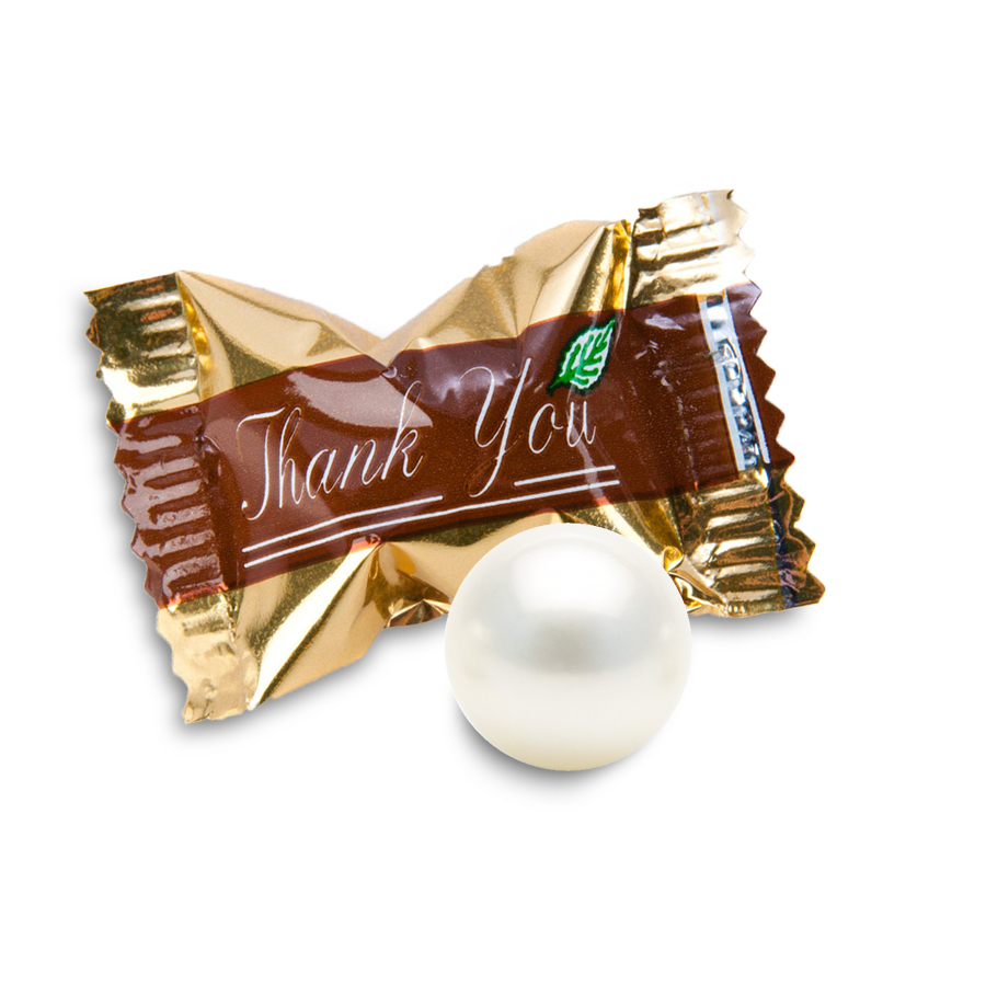 Pearls and Buttermints - Choose from mints with a chocolate centre or soft crumbly buttermints. Each one will surprise and delight your guests.