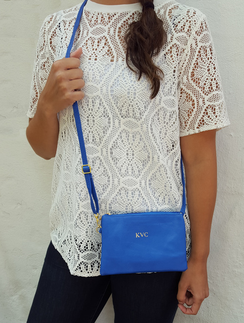 Monogrammed Embossed Crossbody | Clutch | Multiple Colors