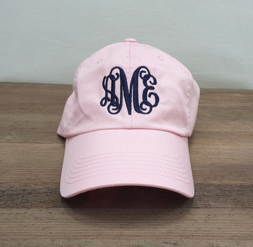 While we love our sunhats, Spring is the time for monogrammed baseball  caps !