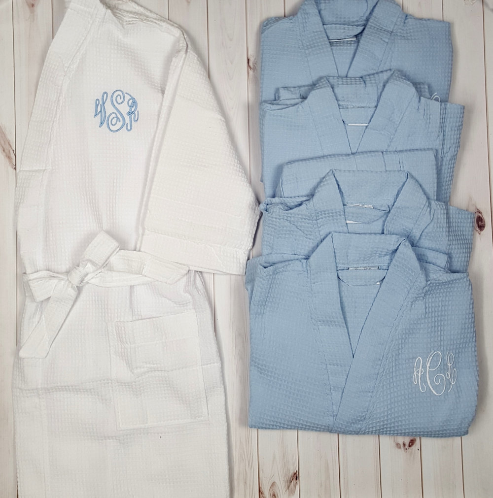 a5a6ff390a Monogrammed Kimono Waffle Robe Set