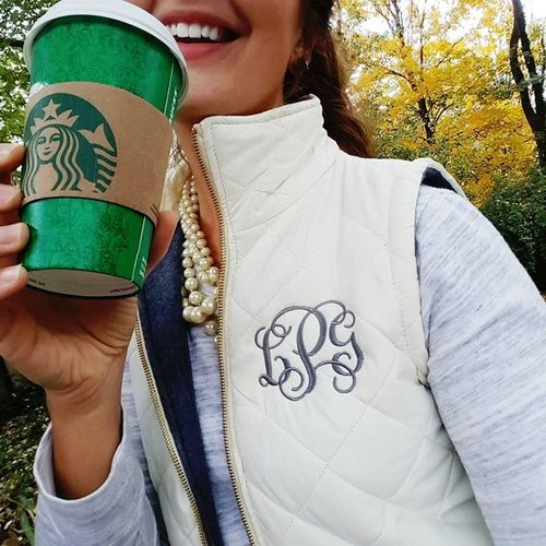 Monogrammed Quilted Vest   Multiple Colors — SimplyEmbroidered ... : monogram quilted vest - Adamdwight.com
