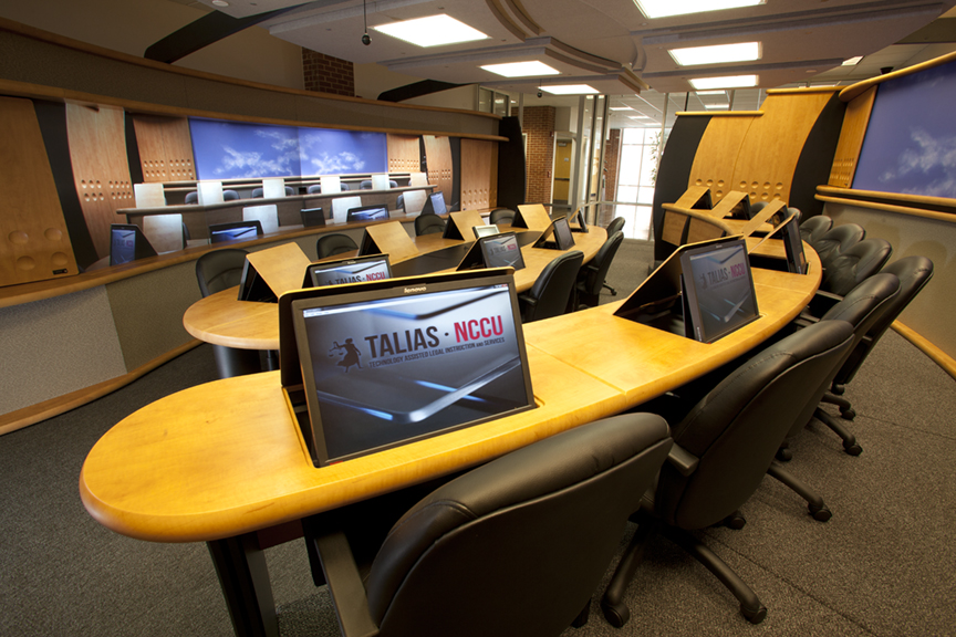 NC Central University Law School – Virtual Jus tice Telepresence Room